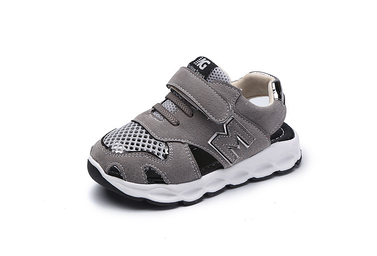 Children Shoes Mesh Air Summer Sandals Boys Sport shoes Toes Protector Kids Casual Running Comfortable Soft Beach Sandals Shose
