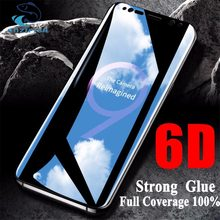 OUZIFISH 6D Full Curved Tempered Glass For Samsung Galaxy S8 S9 Plus Screen Protector Film S7 Edge Note 8 A6 A8 Plus Cover case(China)