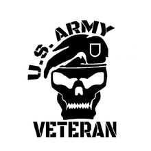 11.6CM*15.2CM Army Veteran Vinyl Decal Beret Special Forces Recon Car Stickers Car Styling Accessories Black Sliver C8-1248(China)