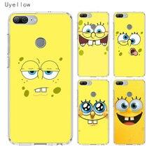Uyellow Cute SpongeBob SquarePants Soft Phone Case For Huawei Honor 8A 8X 8C 8S 9 10 20 lite Pro 20i V20 Cover Coque