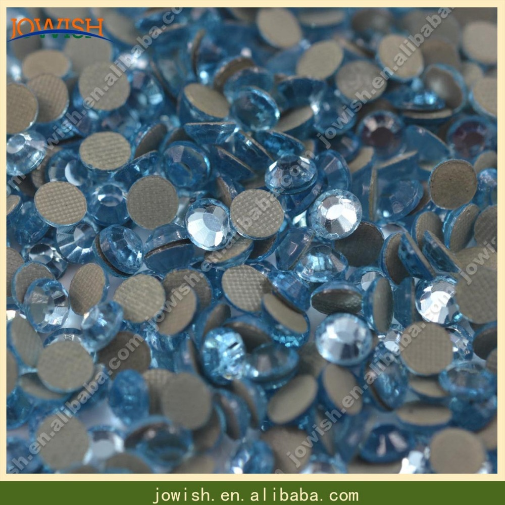 SS10 Lt Aquamarine Korean rhinestone 500 gross   bag Stones Hotfix  Rhinestones Glue-Back Iron On Rhinestones For Clothes 8fb045ca2188