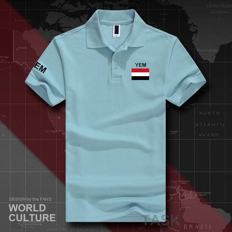 Yemen Yemeni Arabi   polo   shirts men short sleeve white brands printed for country 2017 cotton nation team flag new fash YEM Islam