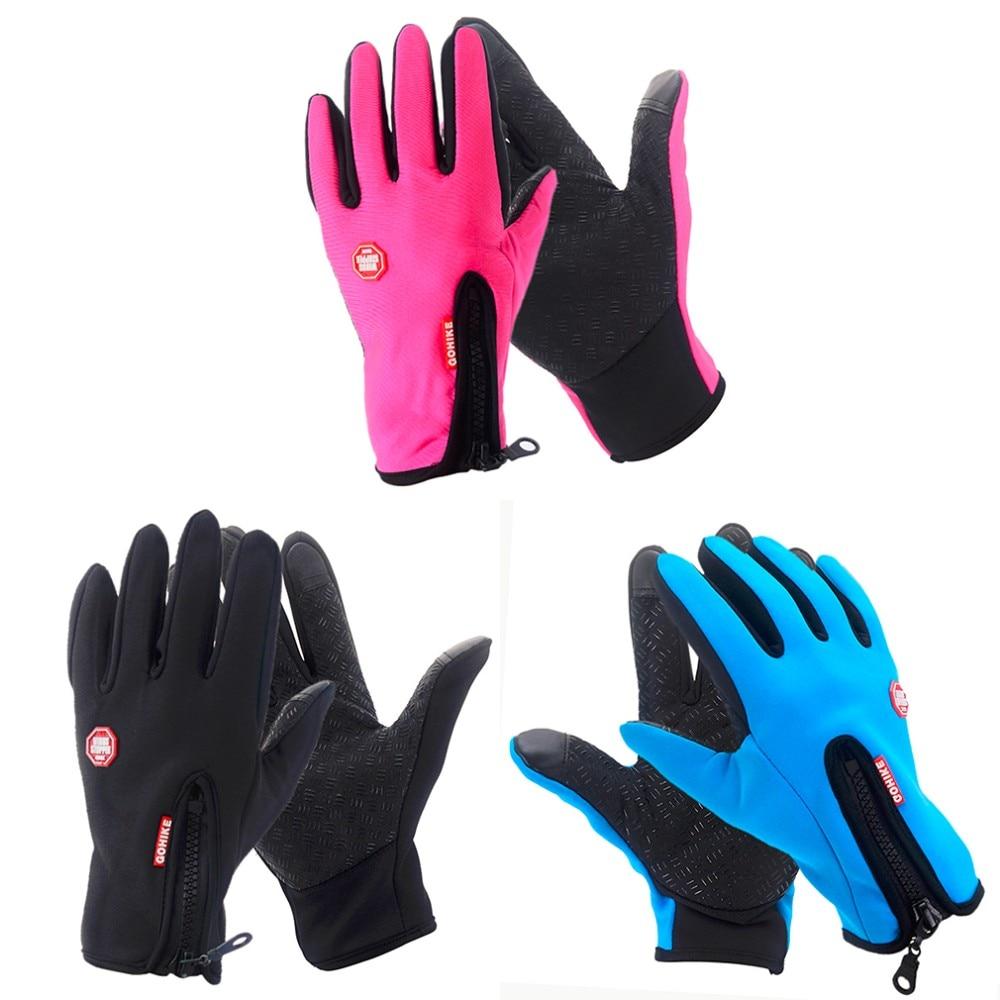 Мужские и женские уличные перчатки для альпинизма, велоспорта, спорта, полный палец, сенсорный экран, перчатки для вождения, теплые варежки для мобильного телефона