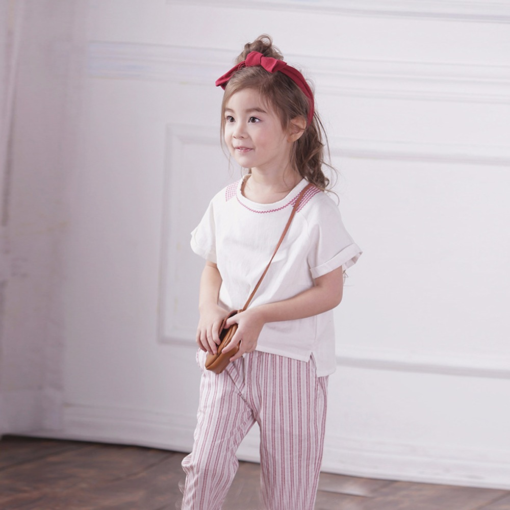 Baby Girls Blouse White Shirt Ramie Cotton Fabric Hollow Out Girl Shirt Dress Casual Korean Child Top Girls Shirt