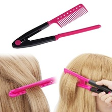 Barber accessories Hair Combs V Type Hair Straightener salon accessories DIY Salon Haircut Hairdressing Styling Tool