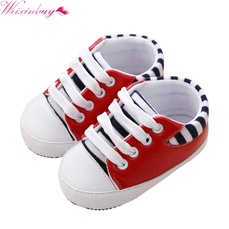 Fashion Toddler Shoes First Walkers Newborn Girl Boy Soft Sole Crib Baby Shoes Canvas Sneaker Prewalker Shoes 0-18 M