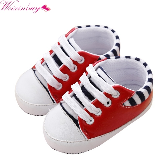 c172bcaa73 US $2.01 31% OFF|Aliexpress.com : Buy Fashion Toddler Shoes First Walkers  Newborn Girl Boy Soft Sole Crib Baby Shoes Canvas Sneaker Prewalker Shoes 0  ...