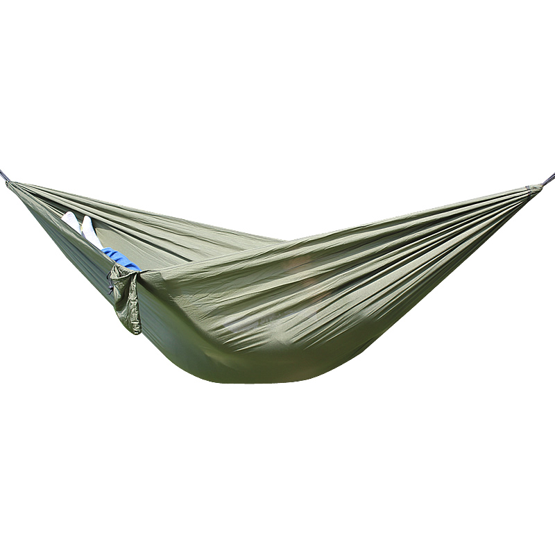 Selling High Quality One Person Assorted Color Parachute Nylon Fabric Hammock With Strong Rope Outdoor Seating Hammock