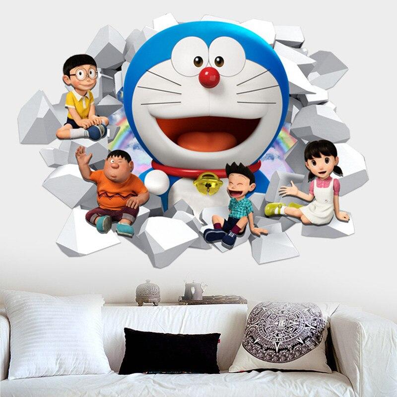 Aliexpress Com Beli Doraemon Anime Poster Melalui Dinding Kreatif
