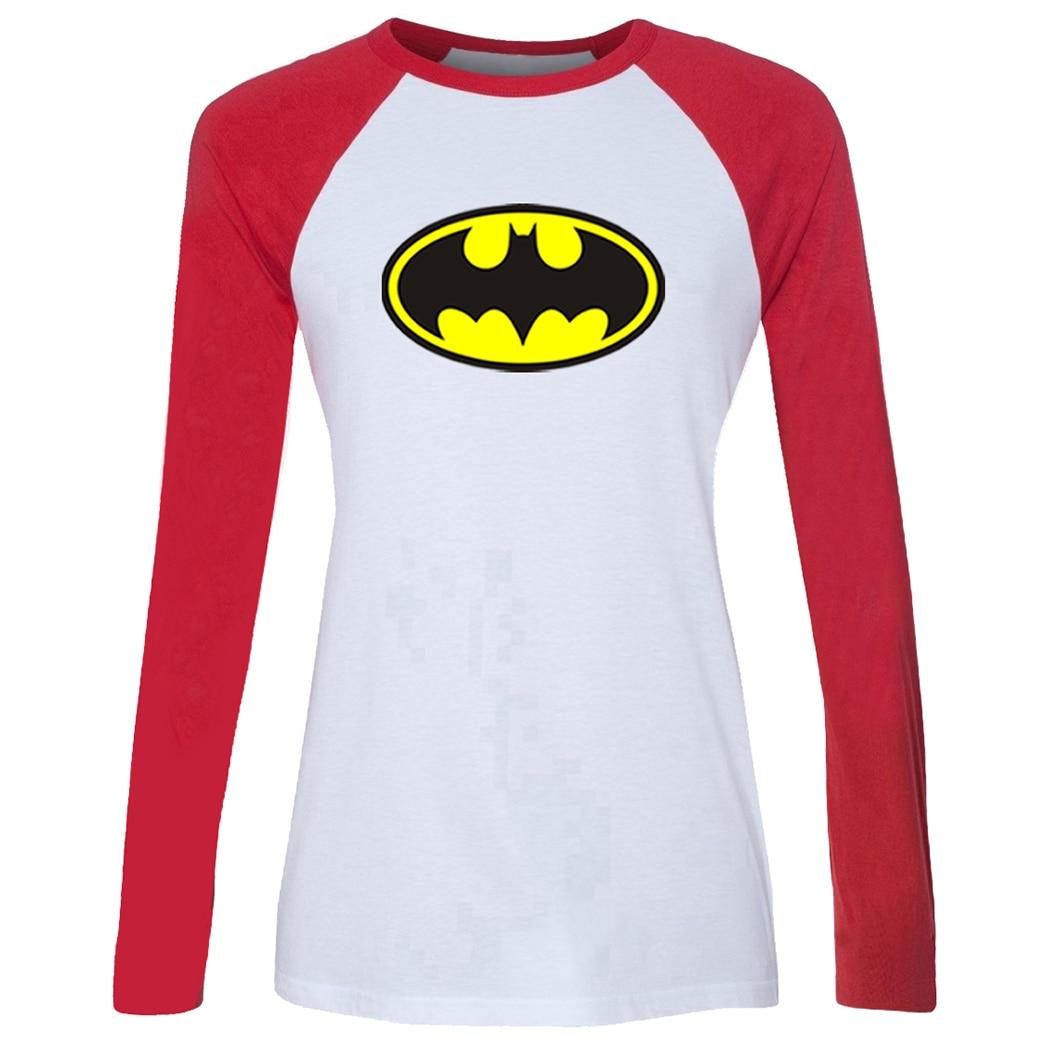 Fashion red hot chili peppers rock band t shirt women dc superhero t-shirt long sleeve tshirt girl  holiday tee tops plus size l-3