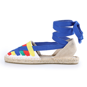 Image 5 - Shoes Woman Sandals Women Tienda Soludos Womens Eternity Flat Espadrilles, Canvas Casual Slip On Shoe With Elastic Band