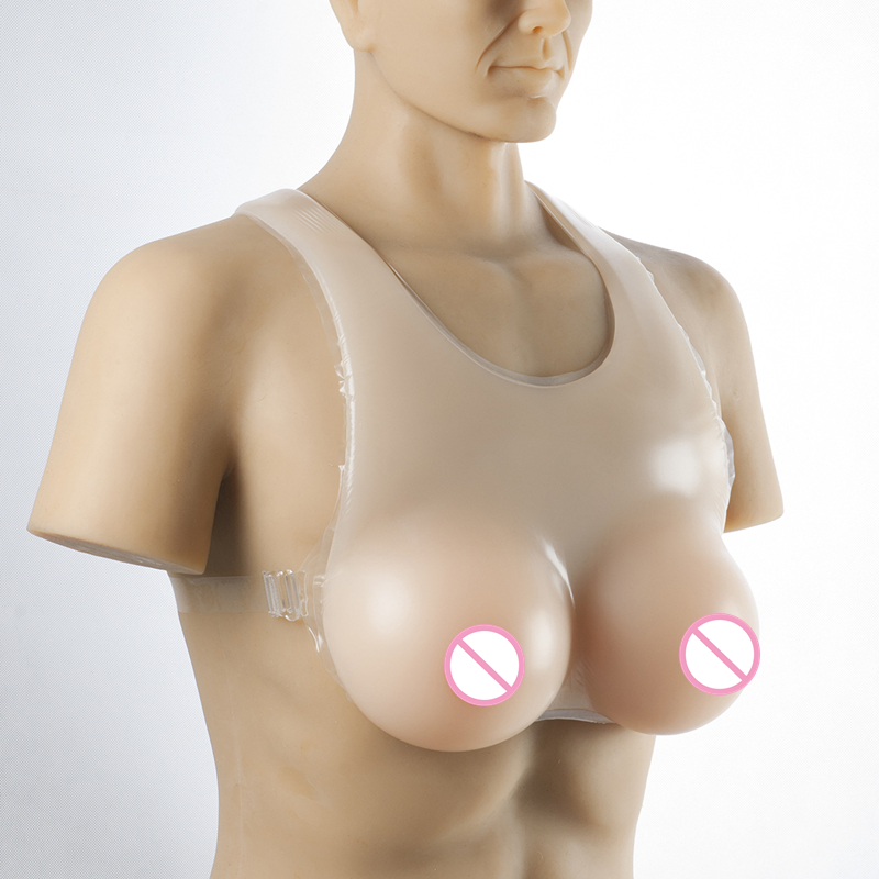 Buy 5000g/pair Super Cup Fake Boobs Drag Queen Tits Realistic Silicone Breasts Form Strap-On Transsexual Crossdresser Breast