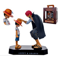 One Piece Action Figure Anime Straw Hat Luffy Shanks Red Hair Ornaments Kids Birthday Gifts Collectible Toys Children Figures
