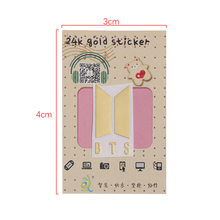 BTS Cute Gold DIY Stickers