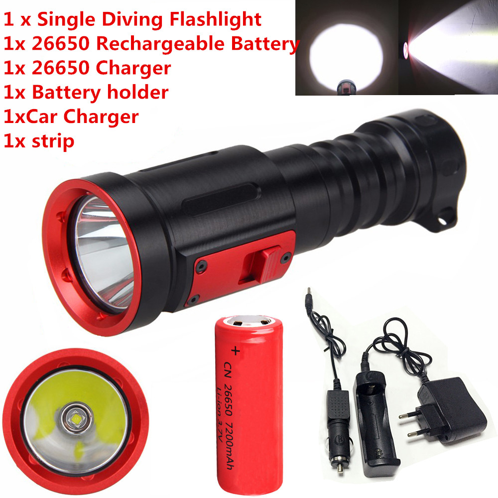 Underwater 100M XML L2 Light LED Scuba Diving Flashlight Torch 26650/18650battery sitemap 35 xml