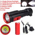 Underwater 100M XPE  Light LED Scuba Diving Flashlight  Torch 26650/18650battery