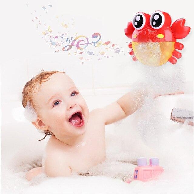 1 pz Bolla Granchi Bambino Accessori Da Bagno Divertente Da Bagno Bubble Maker Piscina di Nuoto Vasca Da Bagno Sapone Macchina Giocattoli per I Bambini Bambini regalo