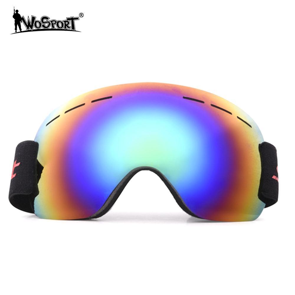 Creativo 4 Di Colore Occhiali Da Sci Gioco Per Maschere Da Snowboard Neve In Montagna Vento Specchio Per Sci Escursioni In Bicicletta Sport All'aria Aperta Equitazione Anti-nebbia