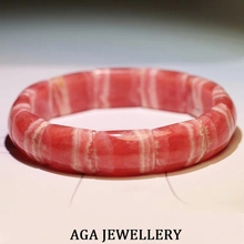 Top Natural Rose Rhodochrosite Argentina Rectangle Beads Bangle Bracelet 13x8mm Gemstone Fashion Women New Love AAAAA