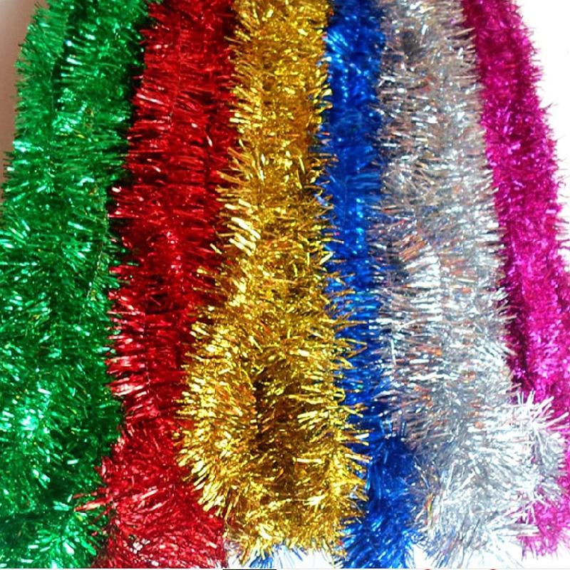 Best Christmas Decorations Long Island: 2M /Pcs Colorful Bar Christmas Tree Omament Garland