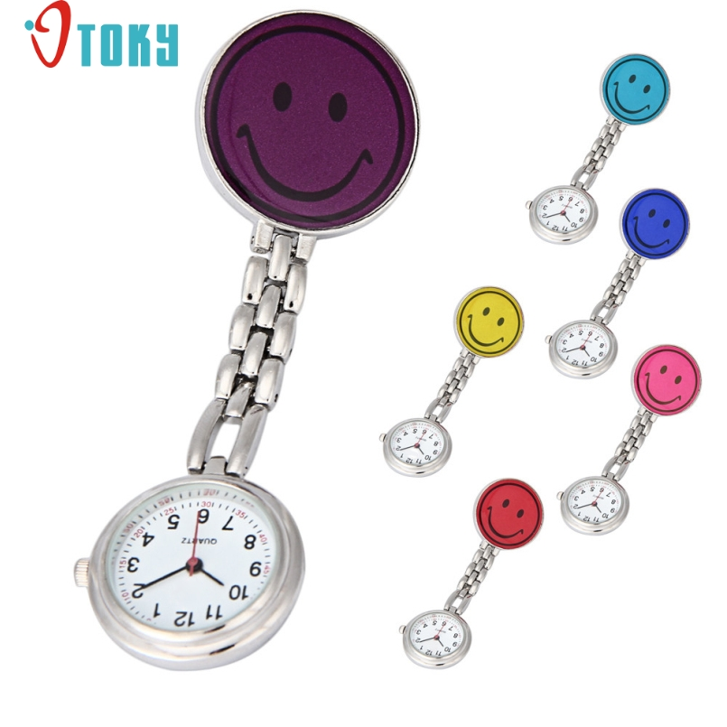 Excellent Quality OTOKY New Hot Nurses Fob Watches Clip-on Fob Brooch Pendant Hanging Smile Face Watch Pocket Watch