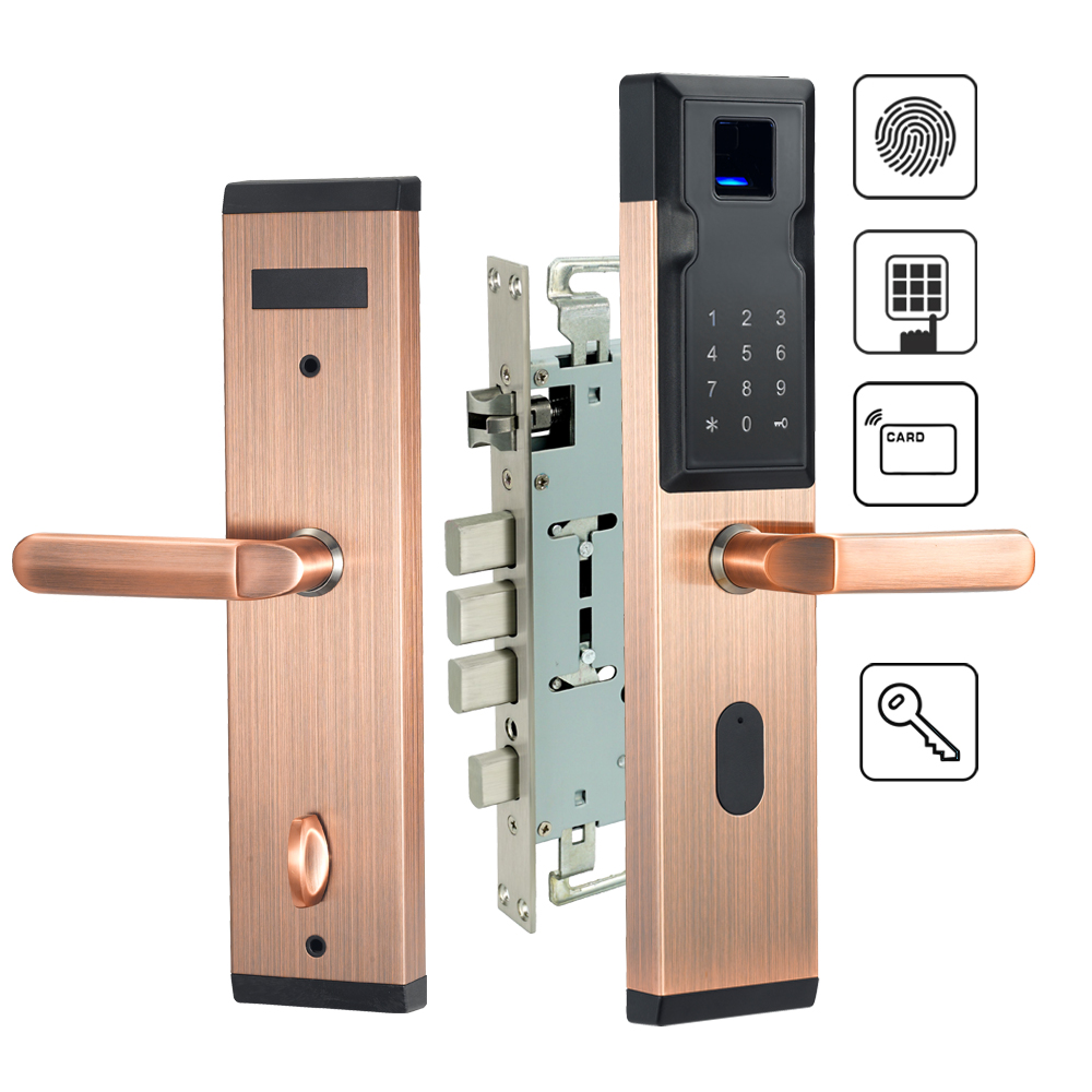 Electronic Fingerprint Door Lock Keyless Entry Digital Smart Anti-theft Door Lock For Home Security все цены