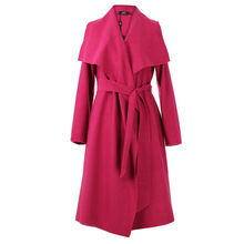 Fashion 2017 Autumn Long Trench Coat  For Women Loose Outwear Solid  Overcoat  Casual Female Long  Windbreaker  JZH07