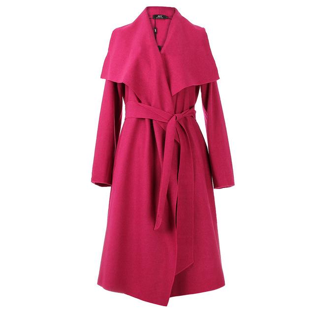Moda 2017 Otoño Gabardina Larga Para Mujer Loose Outwear Abrigo Sólido Ocasional Hembra Larga Cazadora JZH07