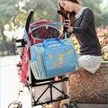 Bolsos de Las Mujeres de múltiples funciones Del Bebé Bolso Cambiador de Pañales Para La Madre Maternidad Bebé Cuidado Nappy Organizador Cochecito B550