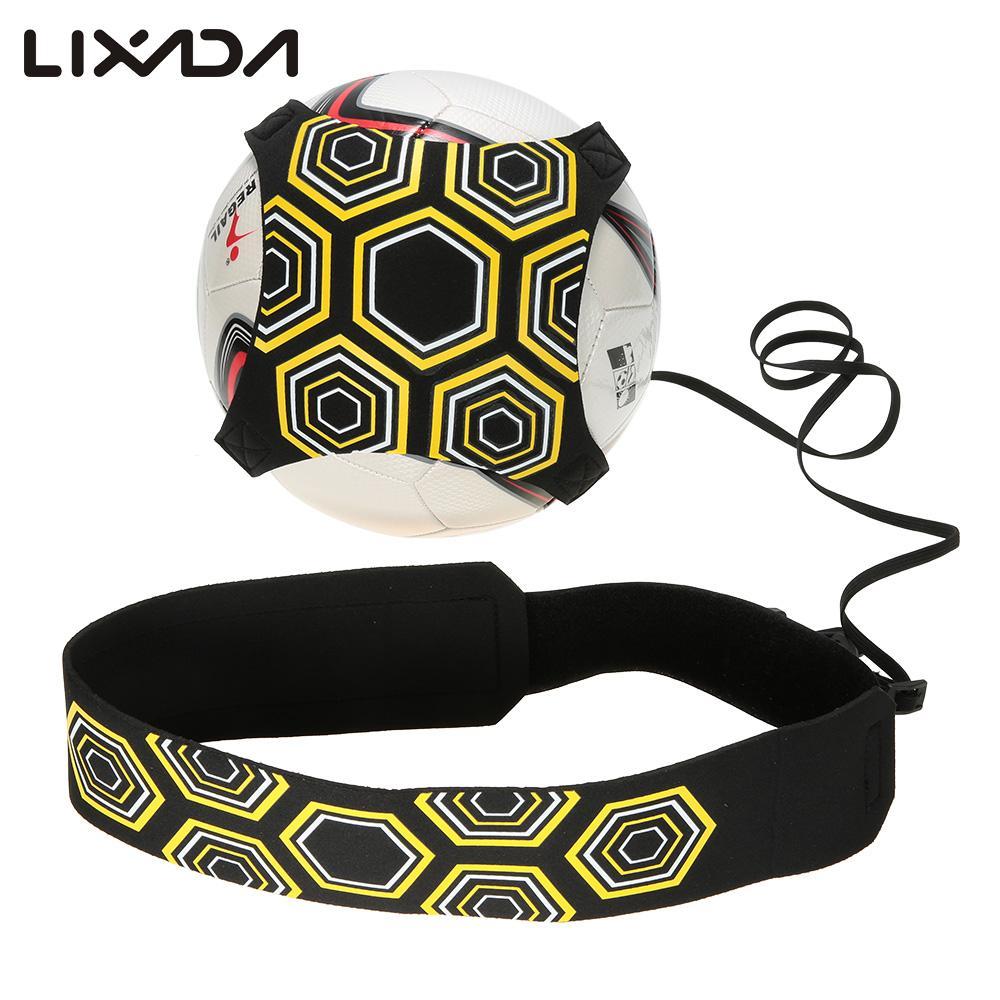 Lixada 94cm Adjustable Soccer Trainer Belt Ball Juggle Bags Football Training Equipment Kick Practice Assistance
