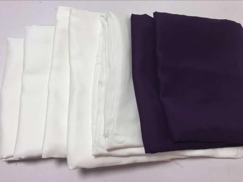 Howmay remnant 100 pure silk fabric satin charmeuse 12m m 16m m natural white and dyed