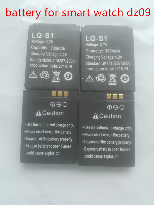 2016 Hot 2pcs lot Battery For Smart Watch dz09 font b SmartWatch b font Battery Replacement