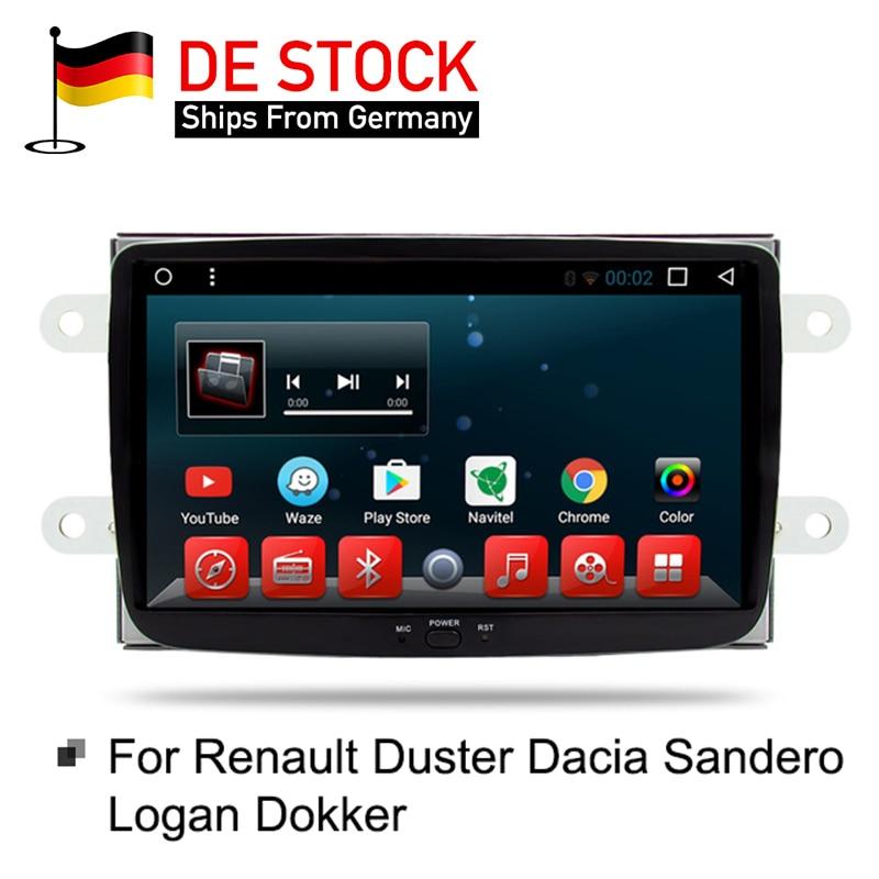 Android 7.1 RAM 2G Voiture DVD Stéréo Lecteur GPS pour Renault Duster Dacia Sandero Logan Dokker Auto Radio RDS GPS Glonass Navigation