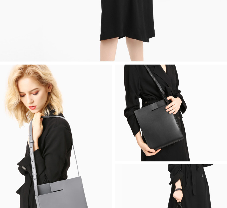2018 New Women Tote Simple Fashion Female Sling Bag Genuine Leather (4)
