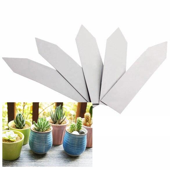 Pak van 100 plantenpotmarkeringen Plastic tuinringmarkeringen - Tuinbenodigdheden