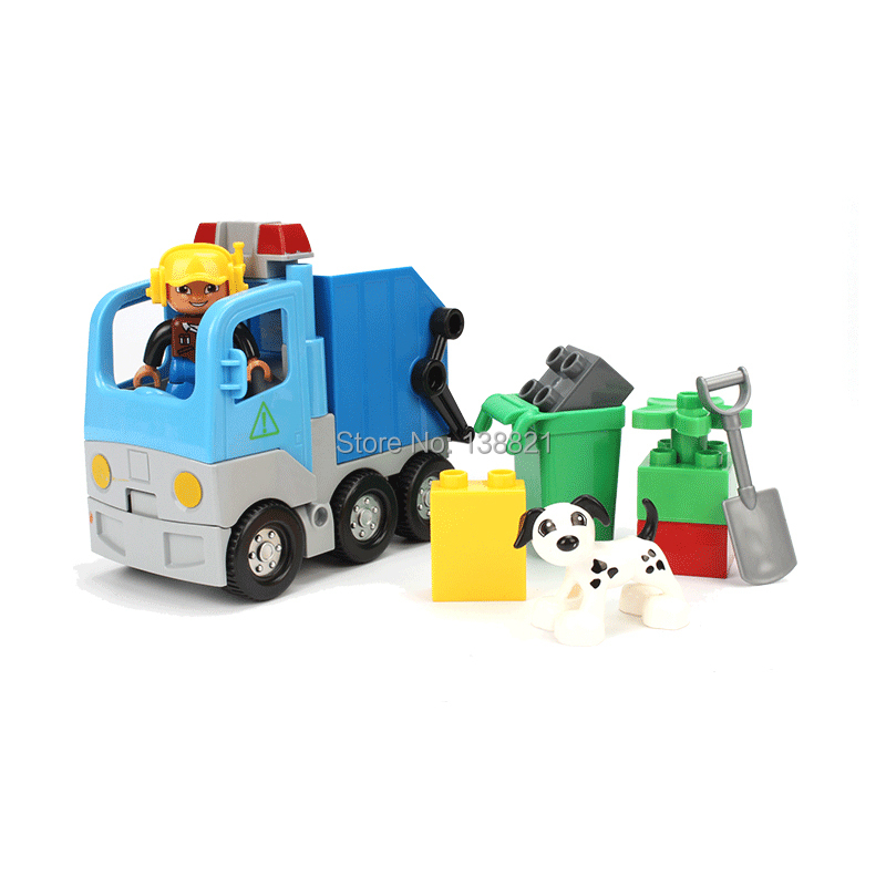 Large Size bricks CHINA brand s666 Garbage Truck Building Blocks Classic font b Toys b font