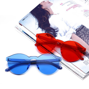Rimless Vintage Round Mirror Sunglasses