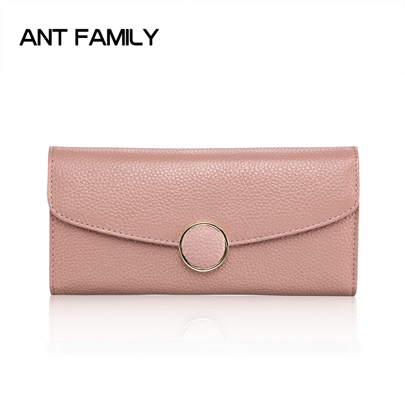 Women Wallets Genuine Leather Wallet Women Luxury Brand Long Wallets Ladies Fashion Solid Coin Purse Female Card Holder Wallet genuine leather wallet women luxury brand plaid coin purse female long clutch ladies leather wallets portfel damski portomonee