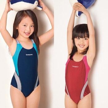 Girls Sporting Swimsuit Children Girls One-piece Professinal Swimwear Kids Girls Training Swimming Sports Suits G30-SW276