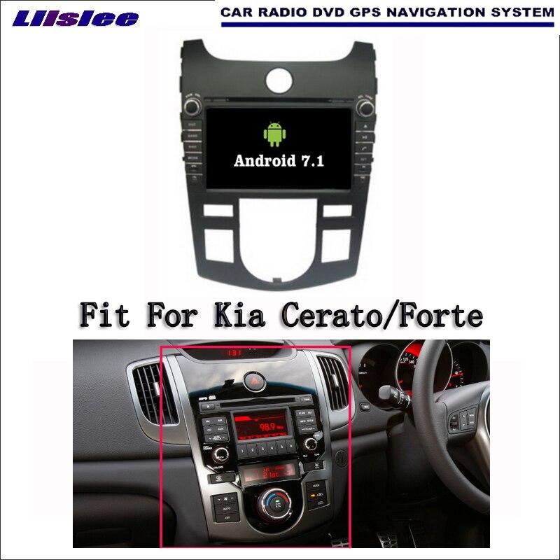 Liislee Android 7.1 2 г Оперативная память для Kia Cerato/Forte автомобиль Радио Аудио Видео Мультимедиа dvd-плеер WI-FI DVR GPS Navi навигации
