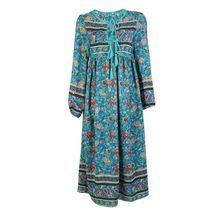 Летняя Пляжная мода платье Для женщин с цветочным принтом в богемном стиле платье с длинными рукавами Femme стильная женская обувь нерегулярные платье