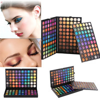 Hot Sale Lasting All Day 180 Colors Cosmetic Powder Eyeshadow Palette Makeup Set Matt professional Salon Personal Available