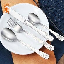 Bino 4pcs high quality children stainless steel cutlery baby flatware 18/10