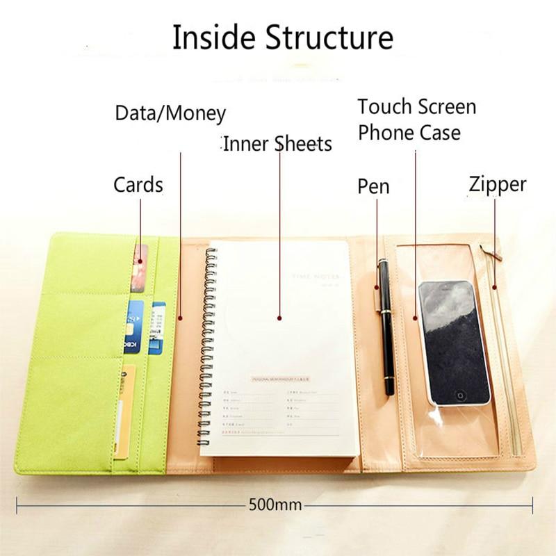 A5 Office Planner Notebook School Office Stationery Supplies Loose-leaf Notebook 2020 Agenda Planner Organizer Bullet Journal