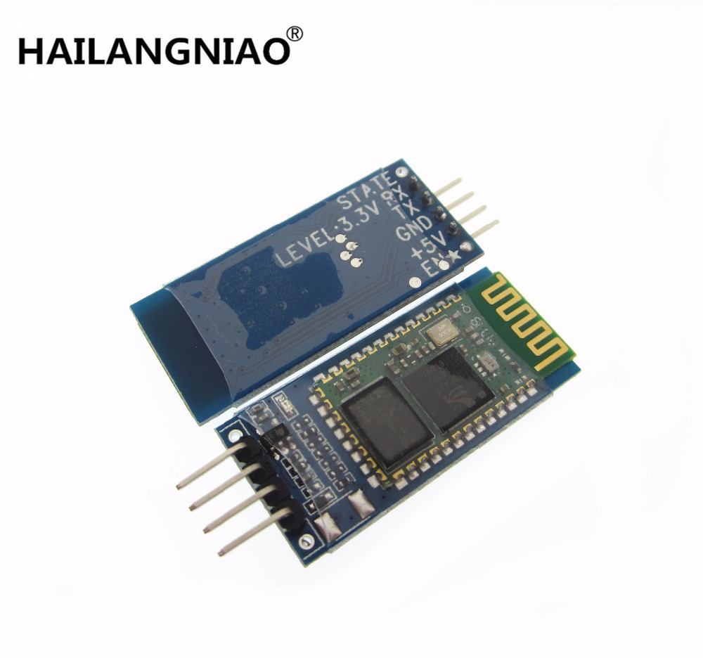 HAILANGNIAO 1pcs hc-06 HC 06 RF Wireless Bluetooth Transceiver Slave Module RS232 / TTL to UART converter and adapter drf4431f13 433mhz 13dbm rf wireless transceiver module