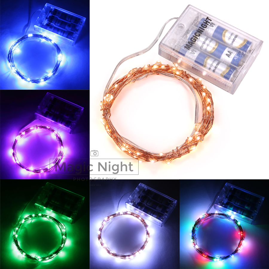Magicnight 3M 10ft 30 led 3AA battery powered indoor led copper wire string lights for Christmas festival Dropship Available ...
