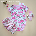 Summer newborn clothing set baby girl clothes Flower print infant bodysuit culottes set gift sets for newborns European style