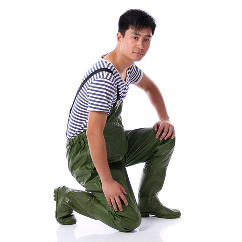 Chest Breathable Fishing Waders Thickness 0.75mm PVC Waterproof Fishing Clothing Inner Storage Pocket Waders for Fishing Hunting tanqu tela insert lining for o chic ochic colorful canvas inner pocket waterproof inner pocket for obag