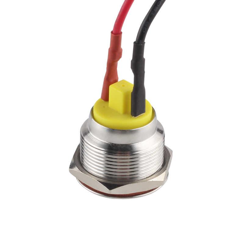 25mm Metal Flashing Indicator Light Led Blink Pilot Stainless Steel Signal Lamp