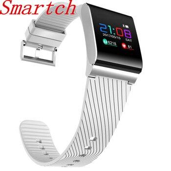 Смарт-часы Smartch X9 Pro, кровяное давление, монитор сердечного ритма, умный браслет с цветным шагомер экранный фитнес-трекер